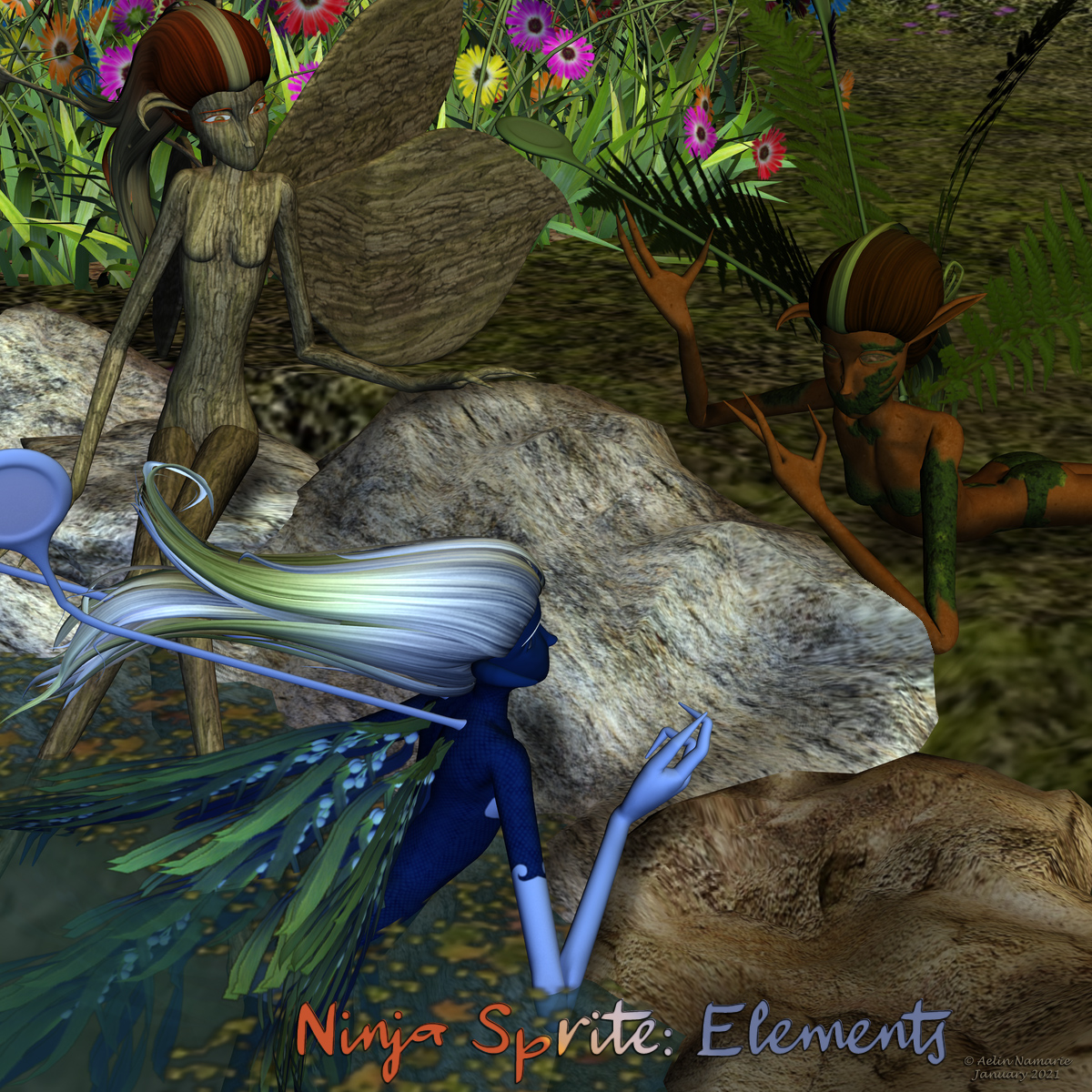 Ninja Sprite: Elements
