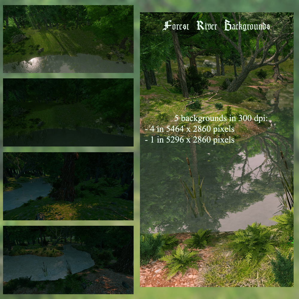 Forest River Backgrounds - Exclusive - Click Image to Close