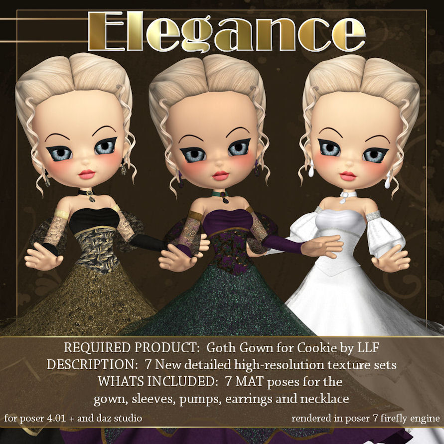 Elegance for Cookie Goth Gown
