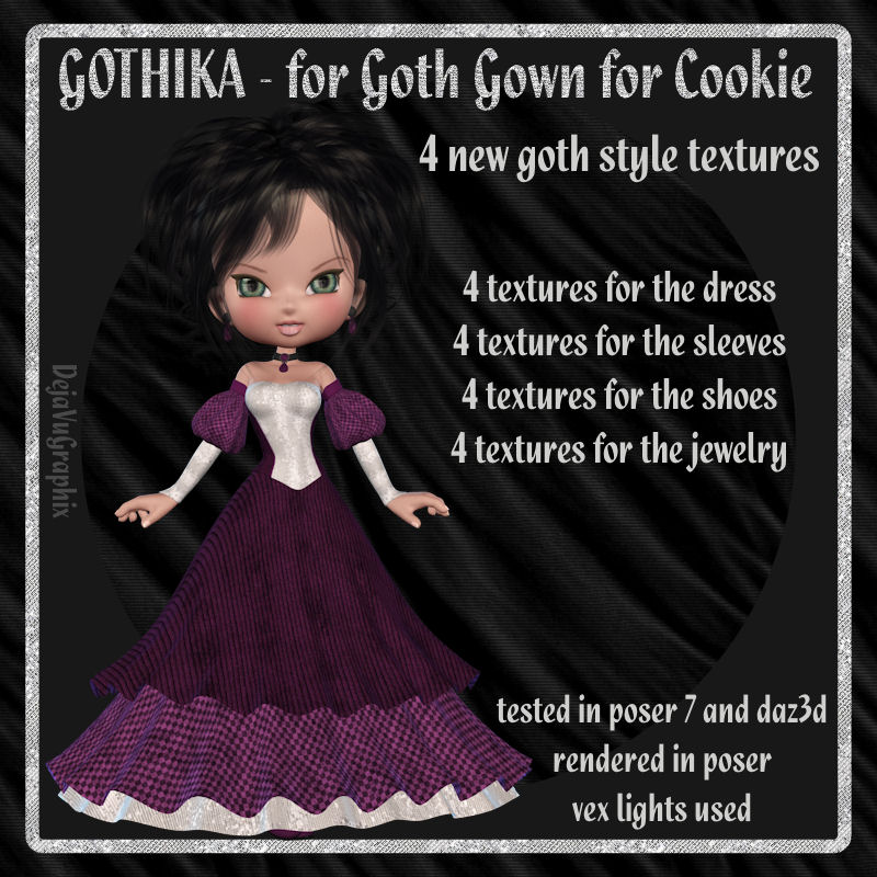 Gothika for Cookie Goth Gown *Exclusive*