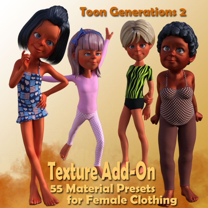 Toon Gen 2 Female Clothing Expansion Pack (G3F) *Exclusive*