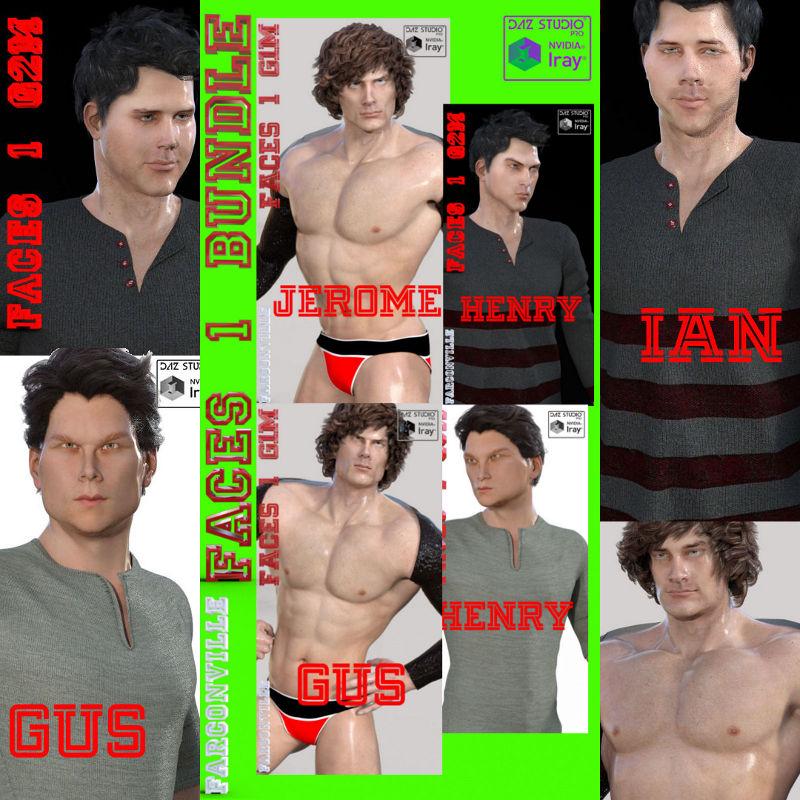 Faces 1 Bundle All Genesis Males & M5-7