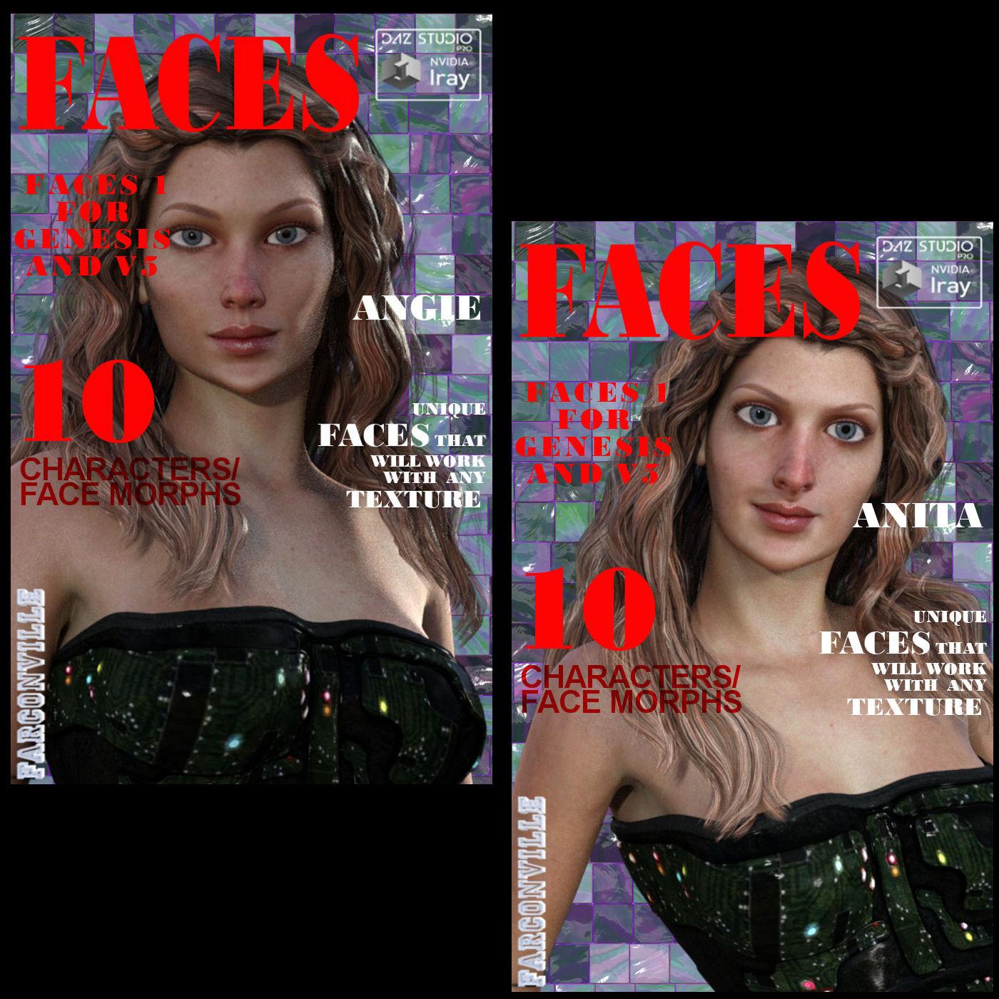 Faces for G1F - V5 _V5 Supermodel