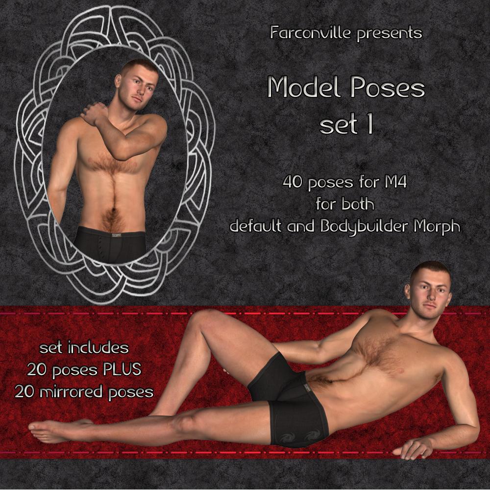 M4 Model Pose Pack Vol. 1