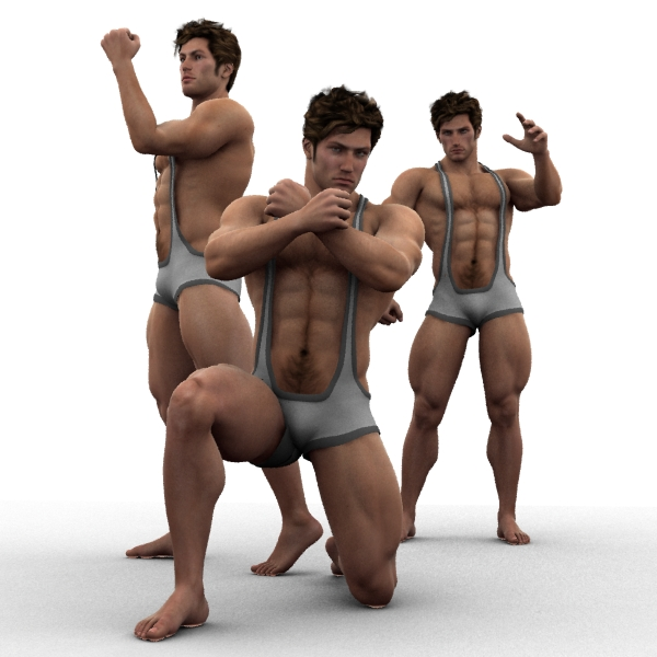 M4 Wrestler Poses (Used for both male figures)