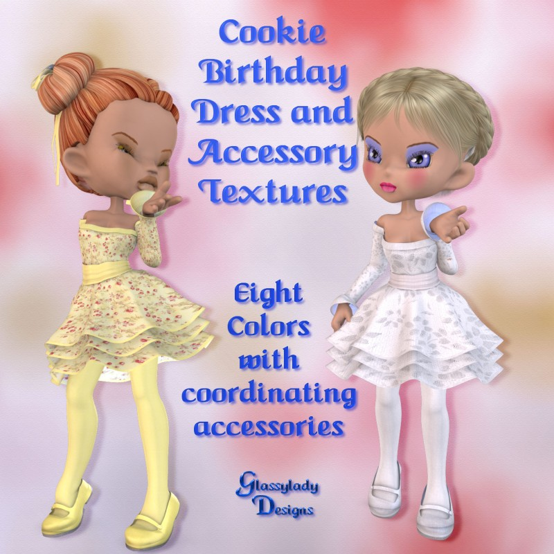 Cookie Birthday Dress-Accessory Textures