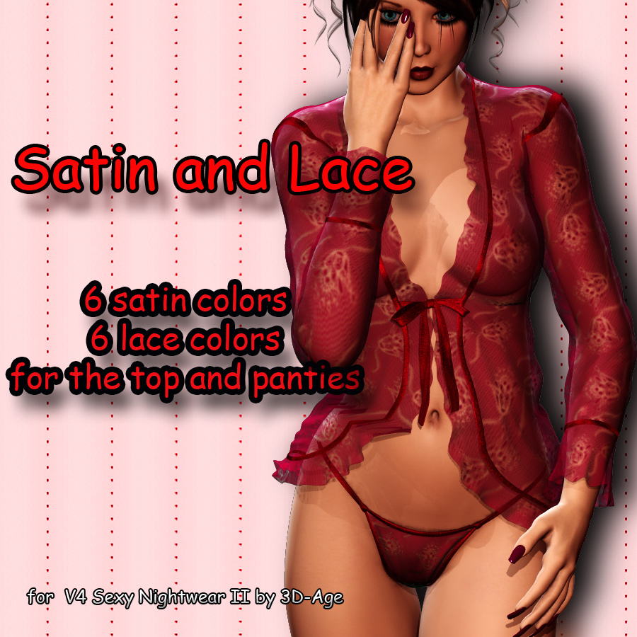 Satin and Lace for V4 Sexy Nightwear II [Exclusive]