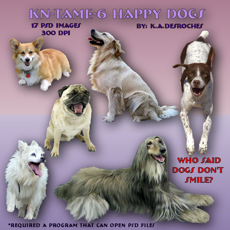 Tame Happy Dogs