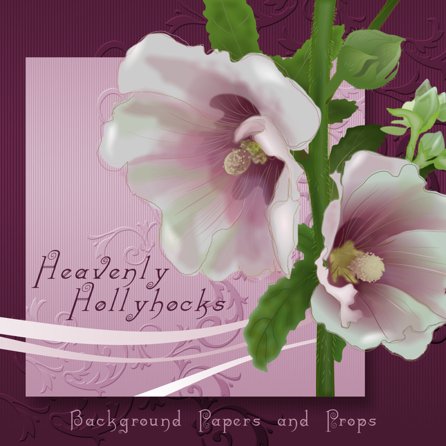 Heavenly Hollyhocks - Exclusive