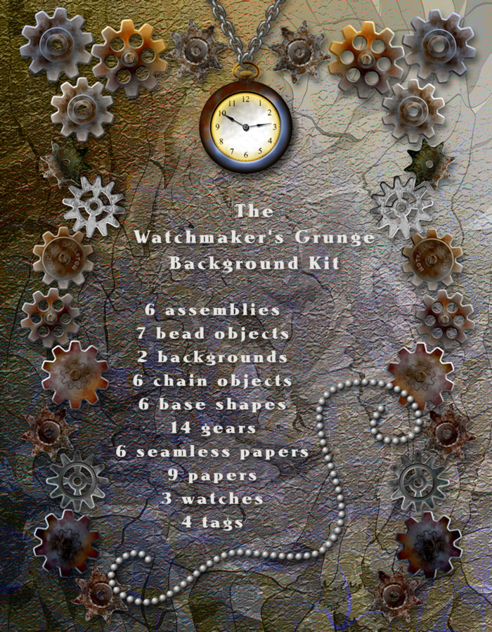 The Watchmaker's Grunge Background Kit - Exclusive