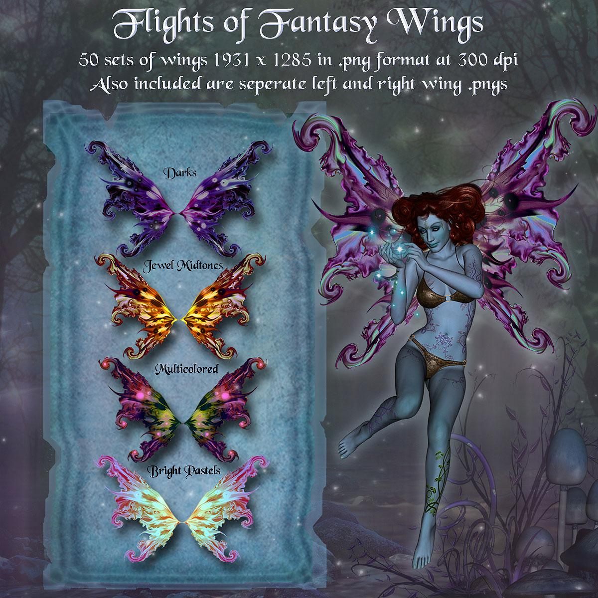 Flights of Fantasy Wings *Exclusive*