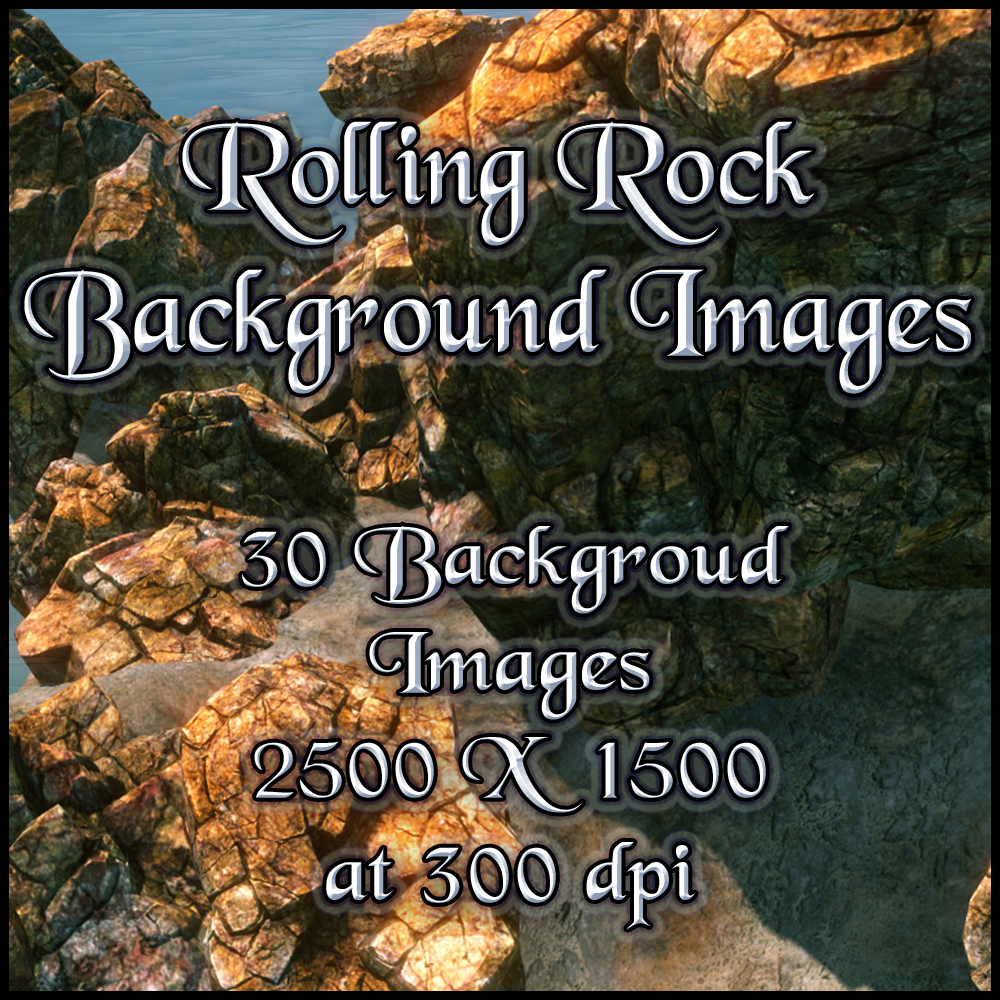 Rolling Rock Backgrounds - Exclusive