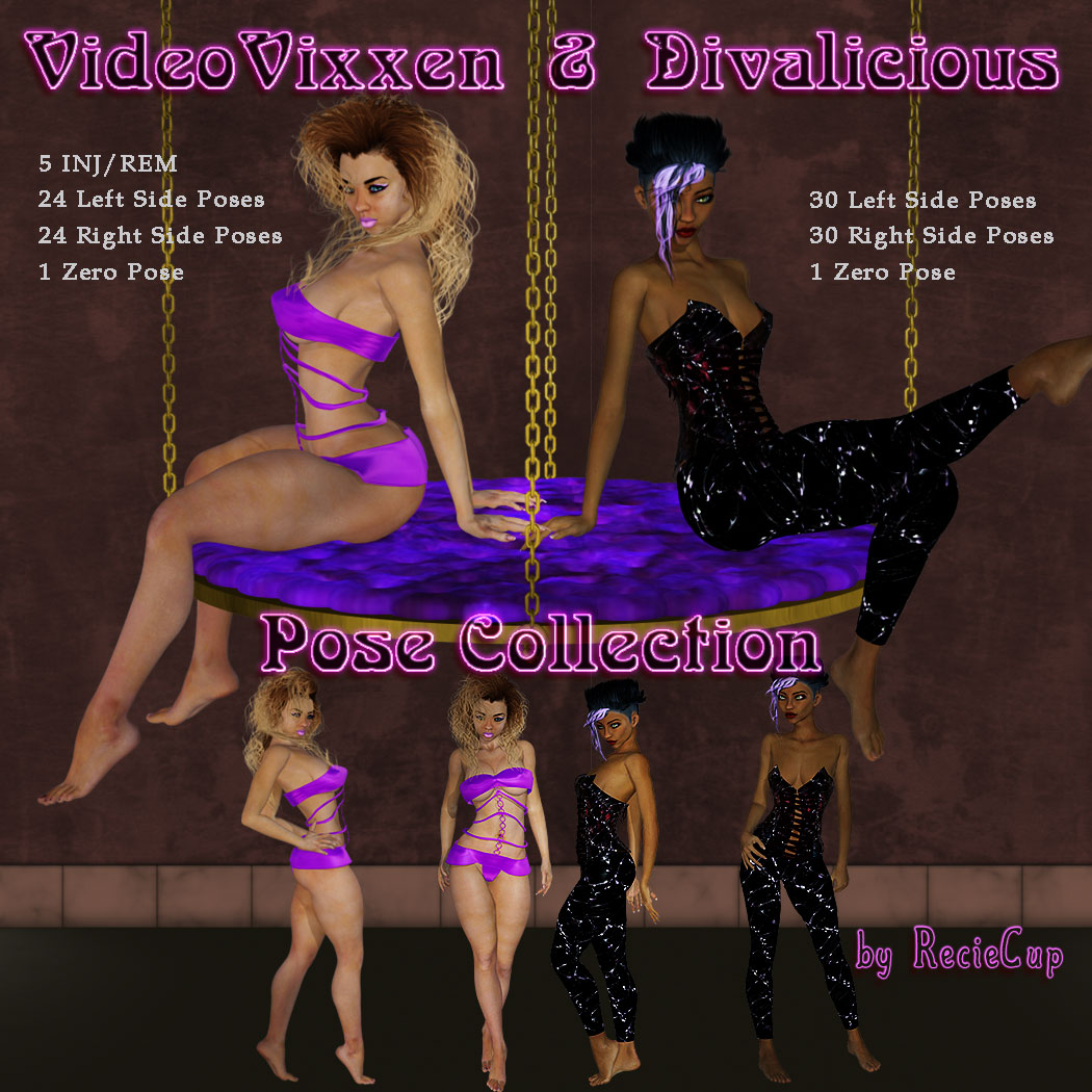 VideoVixxen & Divalicious Pose Collection [Exclusive]
