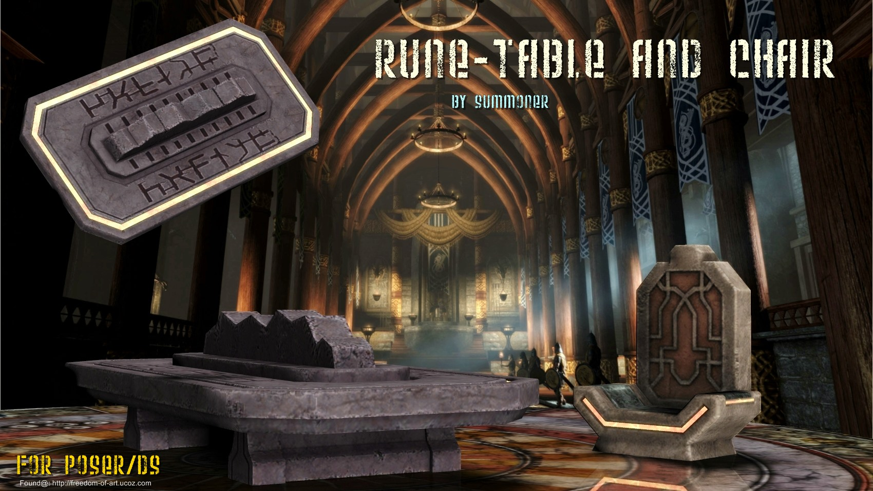 Rune Table and Chair [Exclusive]
