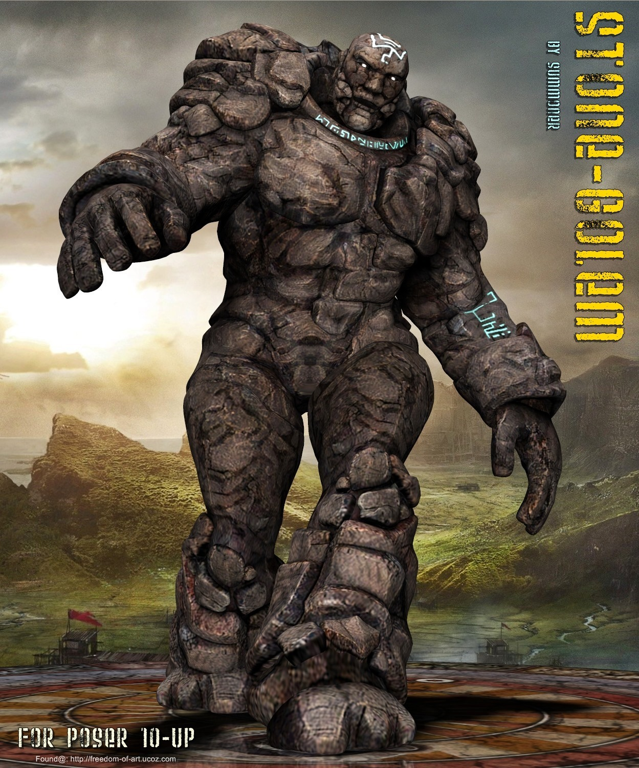 Stone Golem *Exclusive* - $14.50 : Fantasies Realm Market ...